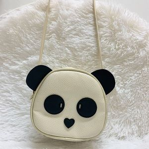 Panda bear crossbody purse